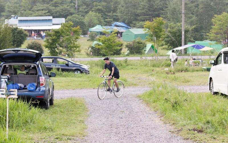 ブルックスでサイクリング @ 無印良品カンパーニャ嬬恋キャンプ場