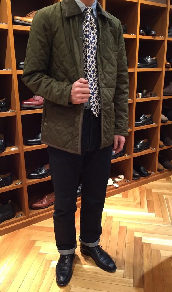 CRANLEY MENS COL:GREEN MARL×GREEN LOVAT ¥28,000+TAX