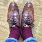 レディース革靴の経年変化