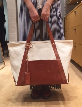 CANVAS TOTE Lsize/OXFORD TAN