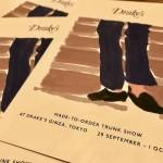 【Drake's & Jean Rousseau】 9/29~10/1 トランクショー開催のお知らせ