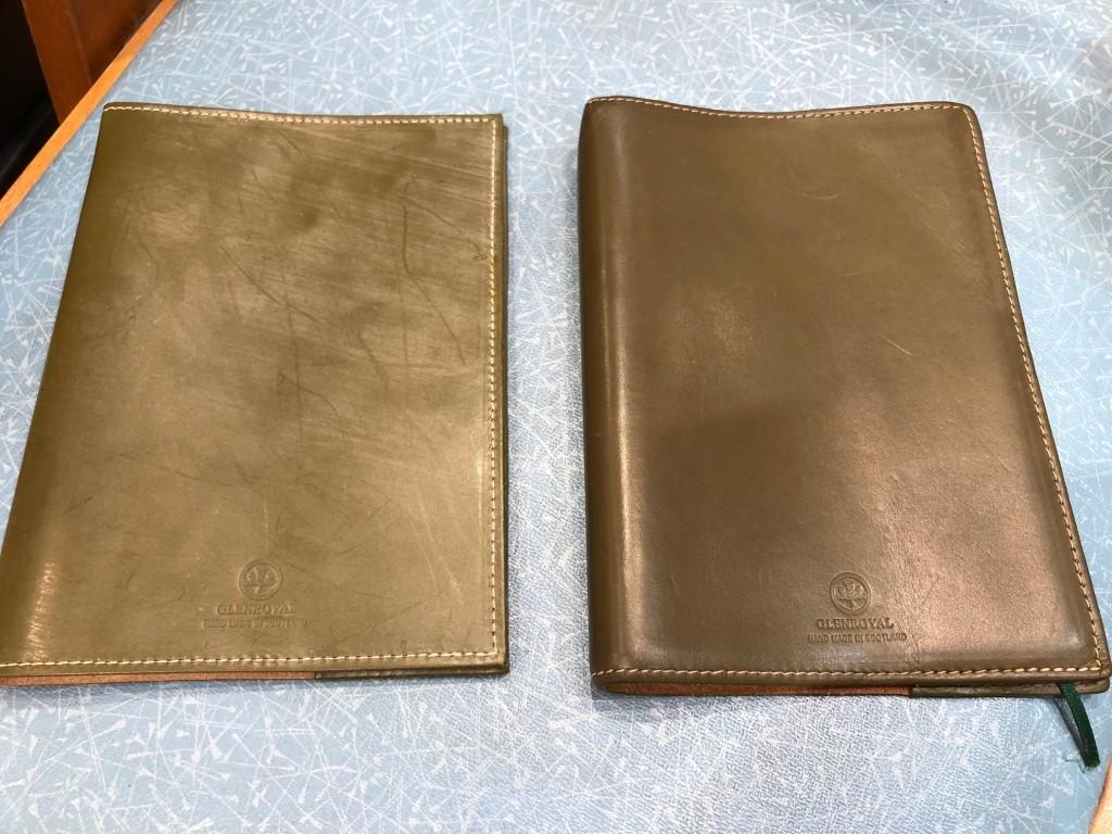 左:新品 右:約1年使用