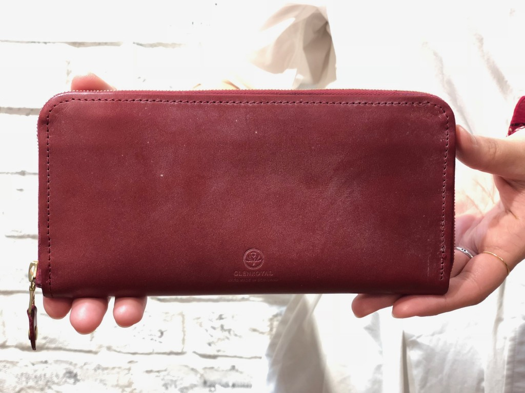 GLENROYAL –ZIP AROUND LONG PURSE/ジップ付長財布 ¥48.600(税込)