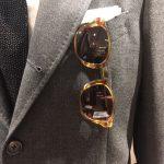 マイケルヒル愛用のメガネから考案されたドレイクス別注モデル「Michael」