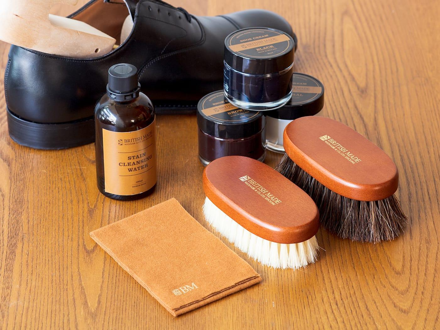 ブリティッシュメイド オリジナル靴磨き・レザーケアセット