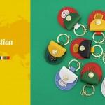 英国グレンロイヤルの世界各国の国旗をモチーフにしたキーリング販売中です!