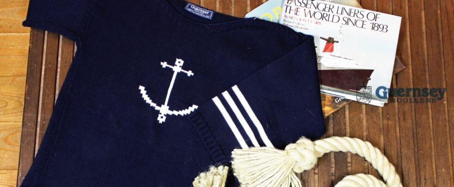 イギリス領ガンジー島からガンジーセーターが入荷しました