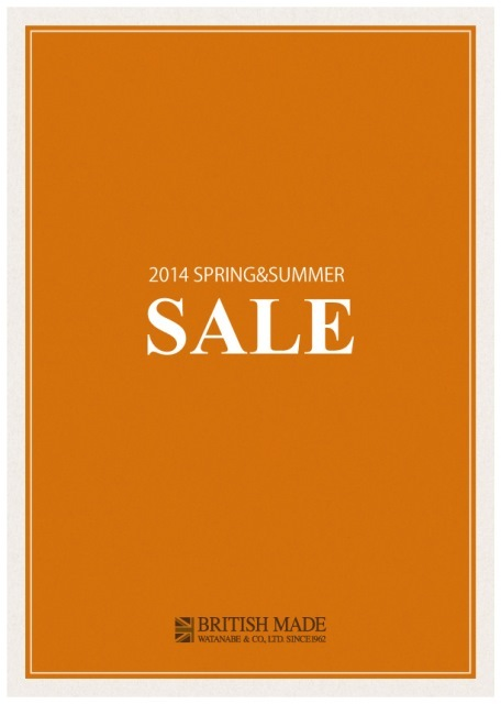 2014S/S SALEのご案内