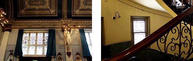 館内全体がアールヌーヴォー様式の装飾で飾られています。