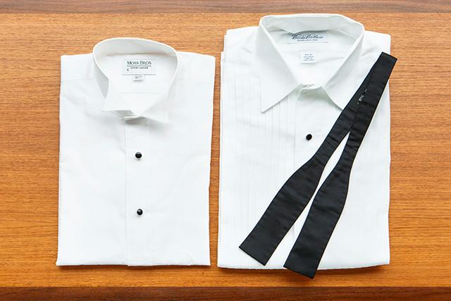 ホワイトシャツとブラックタイ