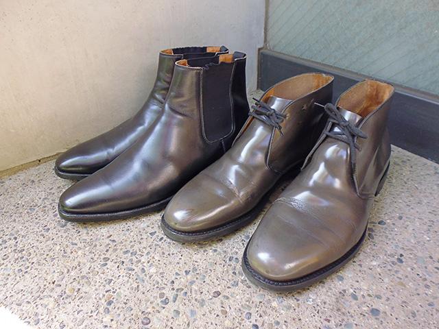 ラバーソールの靴