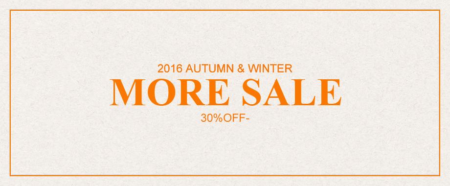 2016 Autumn&Winter SALE開催!さらにお得なプライスで!