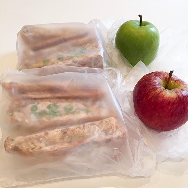 りんごとサンドウィッチ