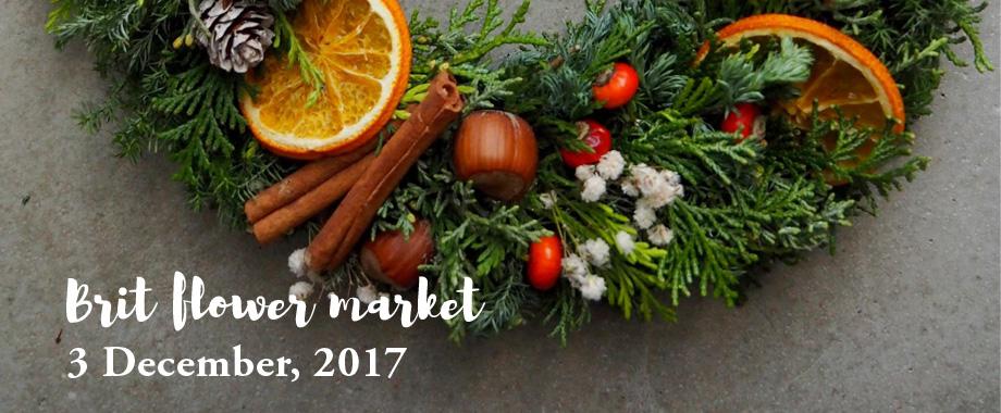 イギリスにちなんだクリスマスリース作りのワークショップ「Brit flower market」。12/3(日)BRITISH MADE 銀座店にて開催。