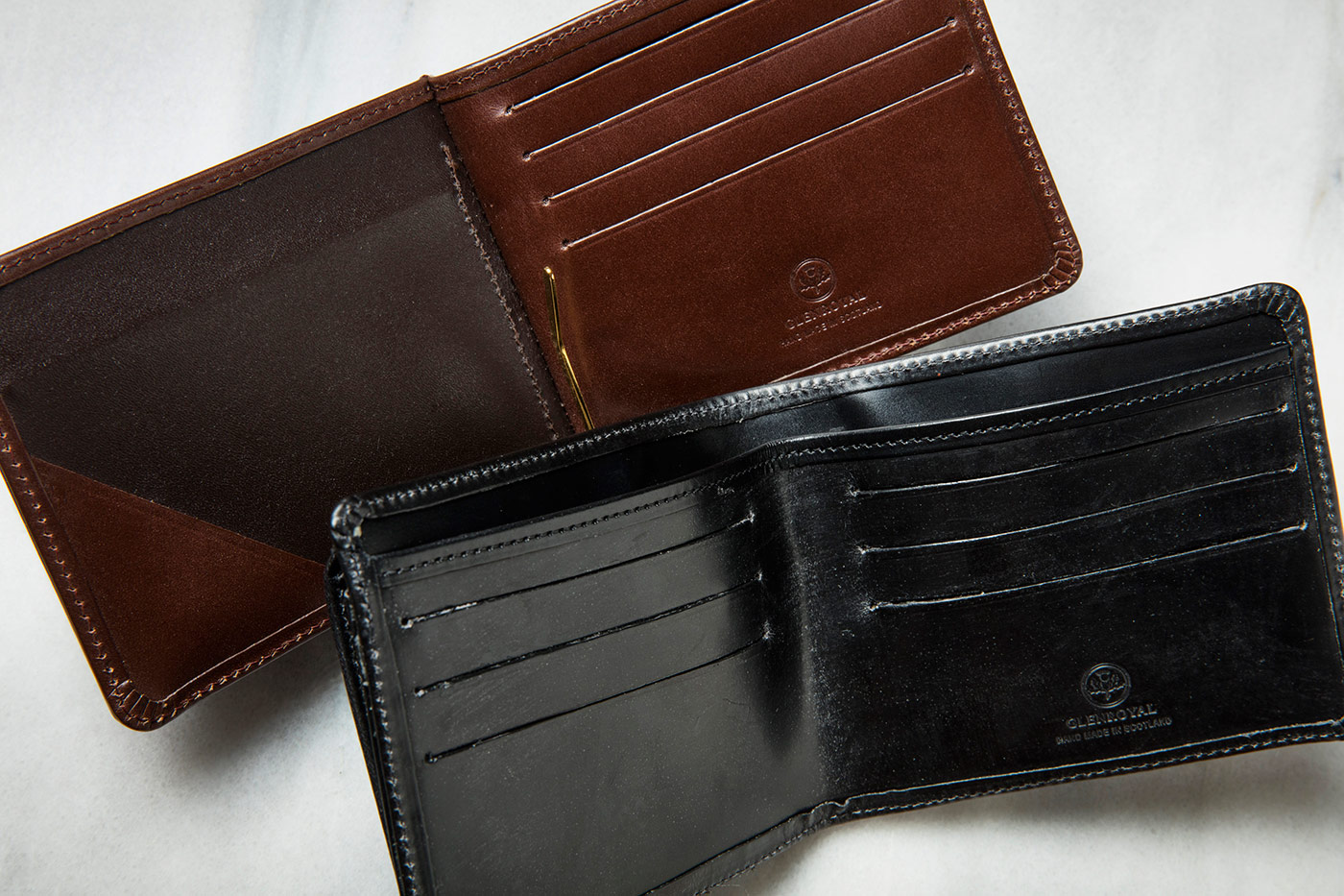 グレンロイヤルのマネークリップと二つ折り財布
