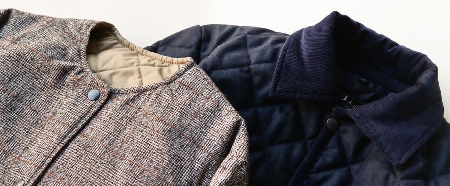20181214_topics1 秋冬らしい起毛感と上品さでムードを添える、ラベンハムこだわりのウールキルティングコート