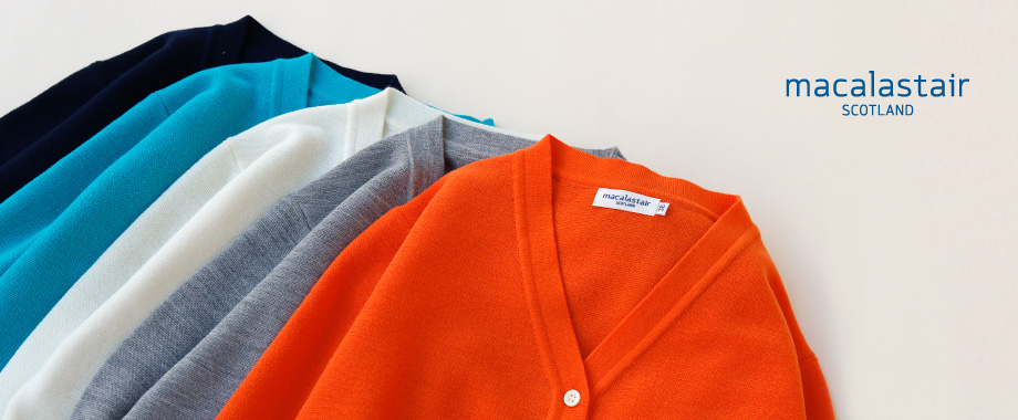 春夏こそウール素材のニットで快適に過ごす。マカラスターよりカーディガン&ポロシャツが新入荷!