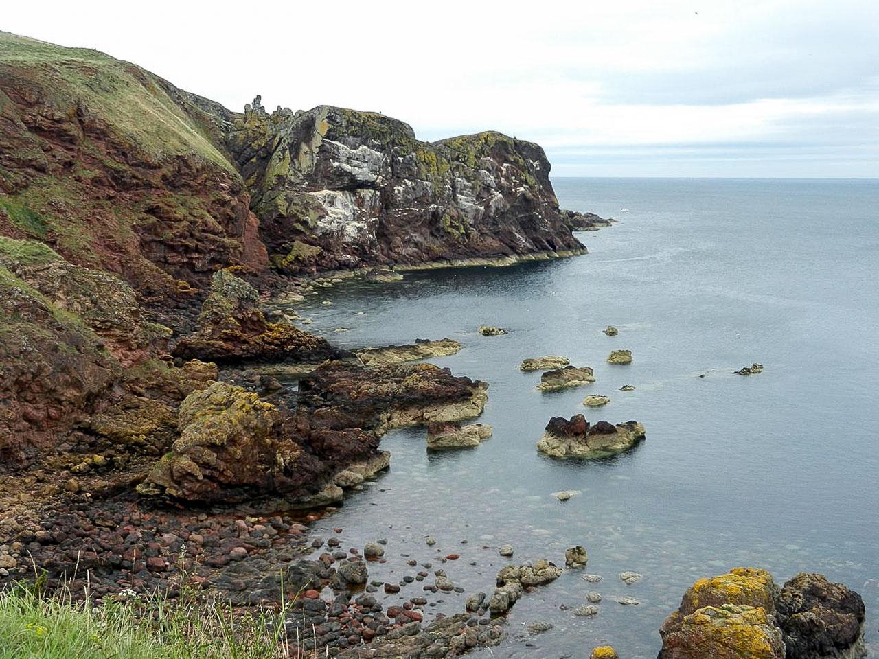 スコットランドとの国境のハイキングコース