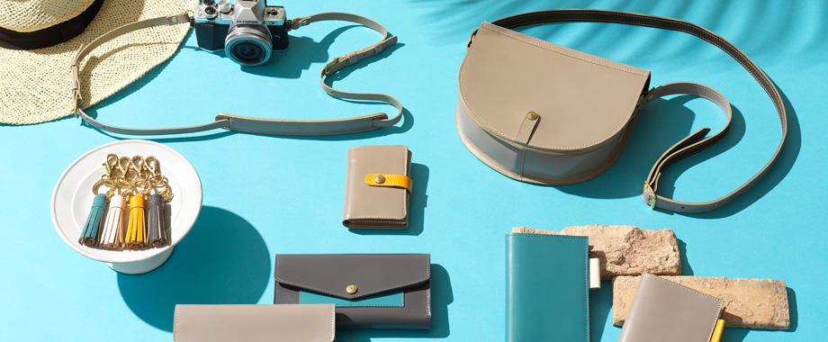 太陽きらめくリゾートでのバカンスをイメージしたバッグや財布、革小物がグレンロイヤル「グレイスコレクション」 から新登場