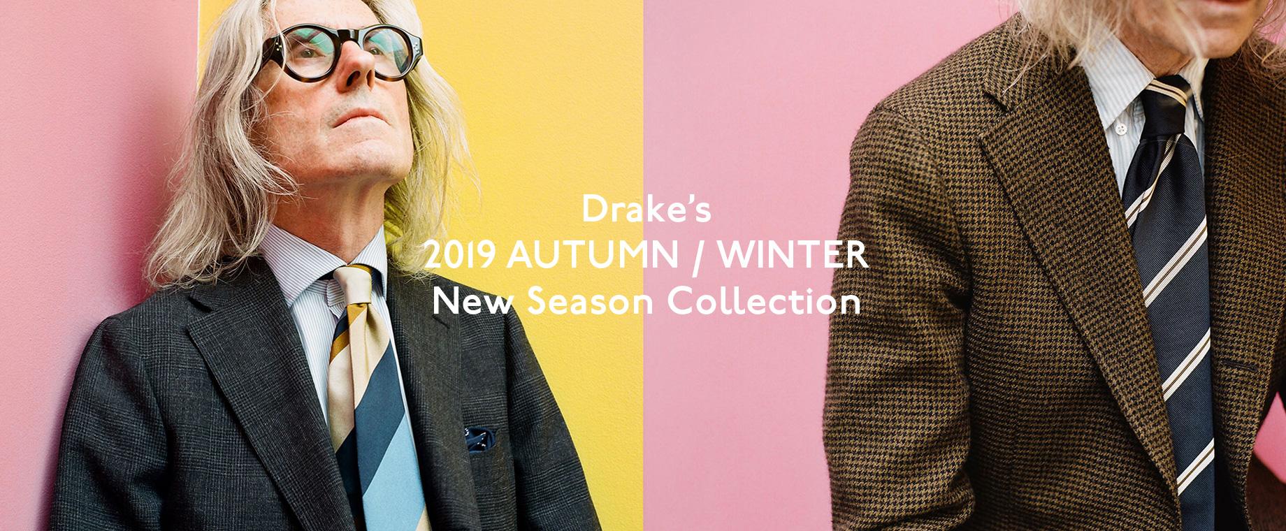 Drake's 2019年秋冬最新アイテムが入荷!シーズンの世界観を演出する最新ルックブックを公開