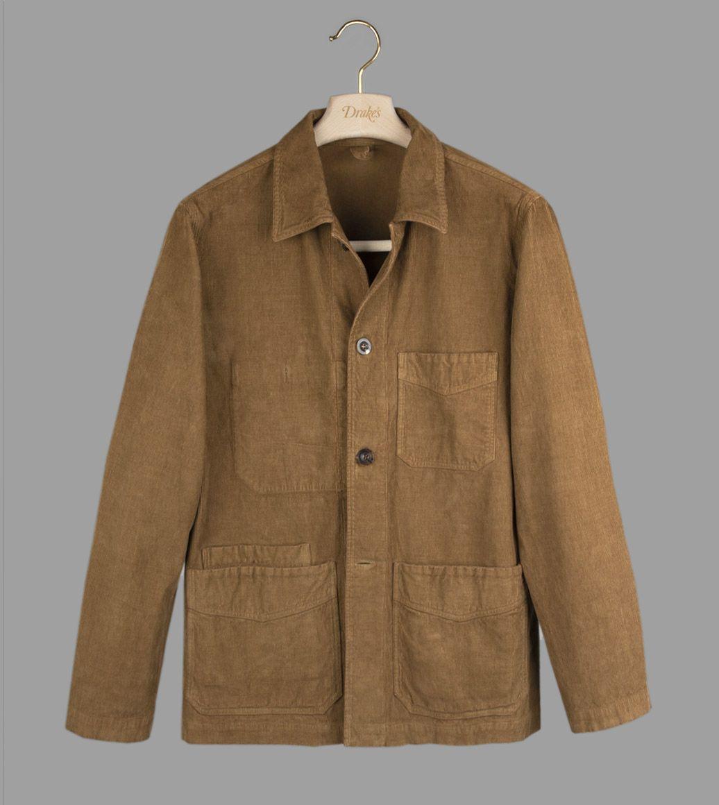 ブラウンコーデュロイチョアジャケット