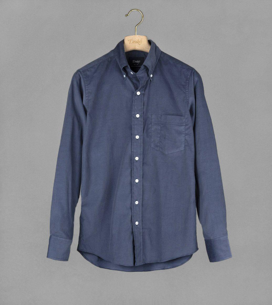 ブルーコーデュロイB.Dシャツ