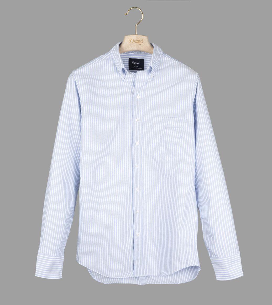 ブルーストライプオックスB.Dシャツ