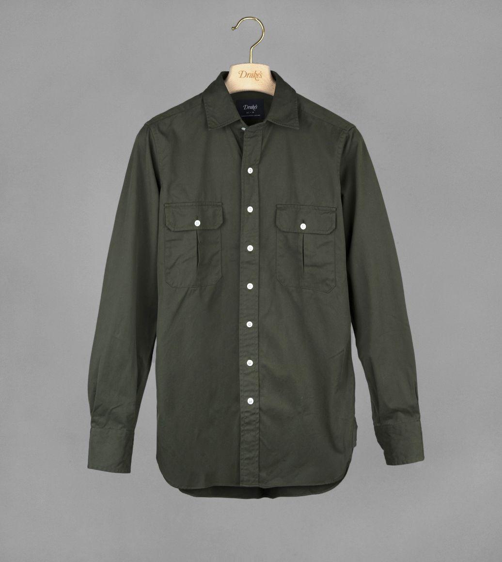 グリーンツイルワークシャツ