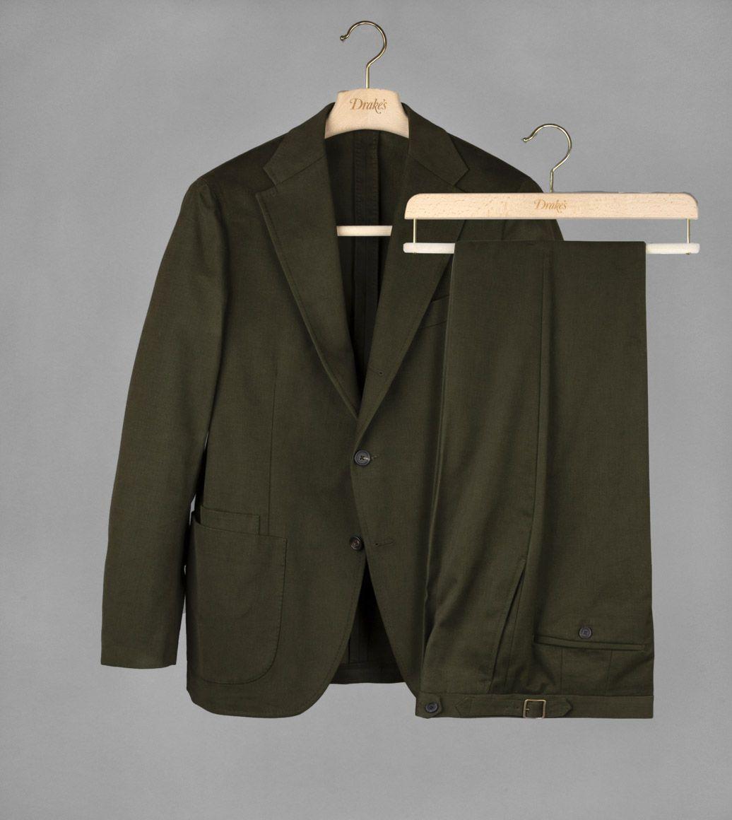 グリーンコットンツイルスーツ
