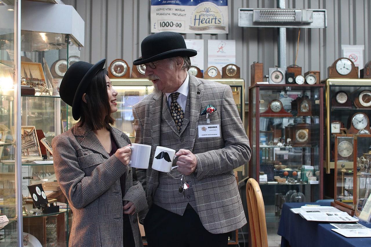 英国紳士と記念写真