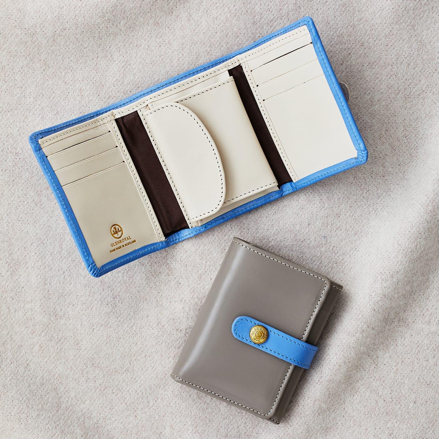 グレンロイヤル 収納力とコンパクトさの両立 三つ折りタイプのミニ財布 TRIFOLD SMALL WALLET WITH TAB