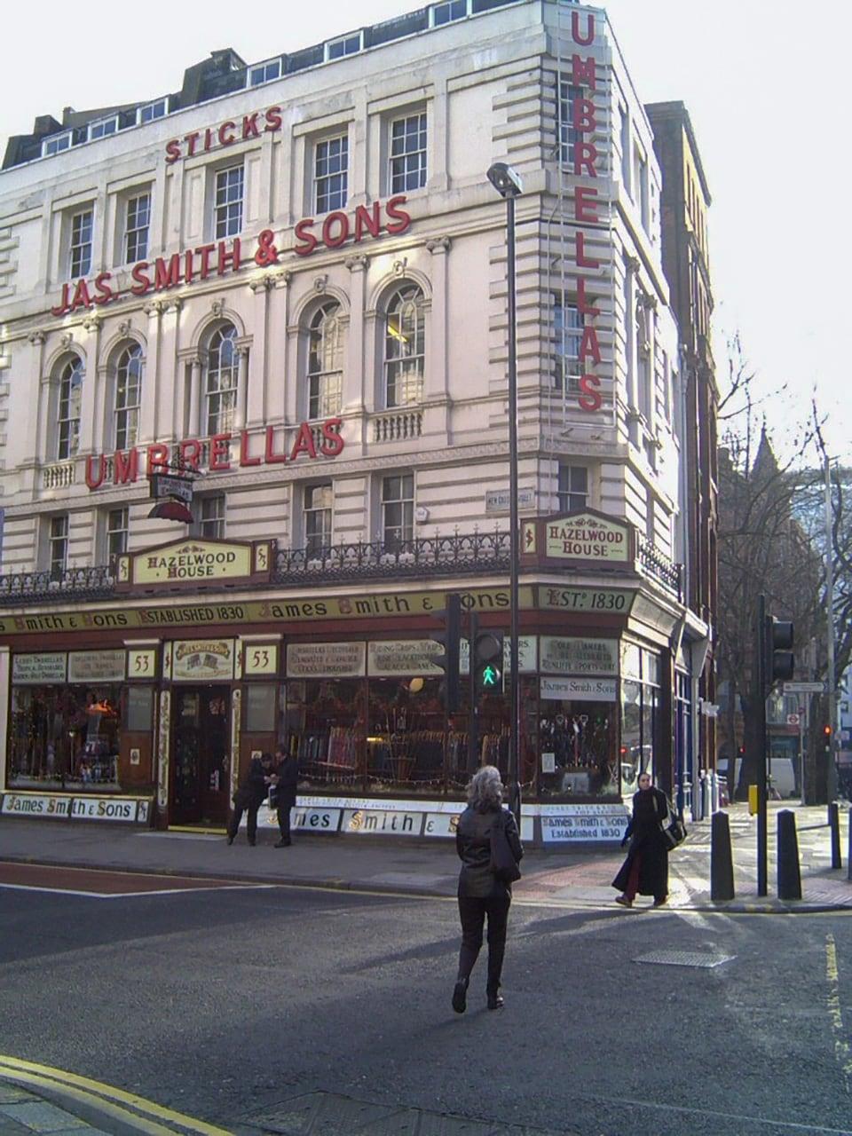 ロンドンの傘店