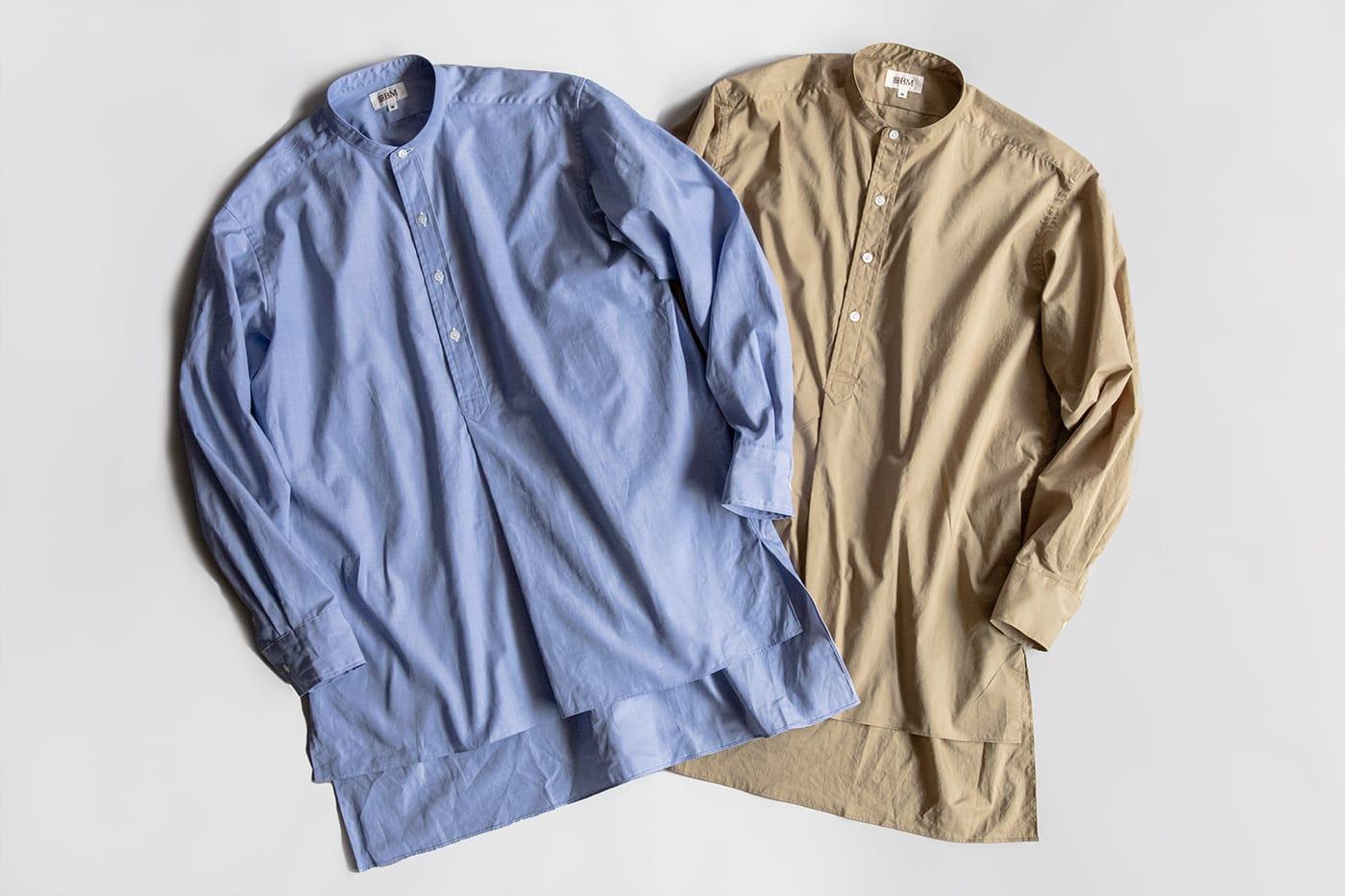 オフィサーシャツ「プリマス」 モチーフは1960年代の英国ミリタリーシャツ