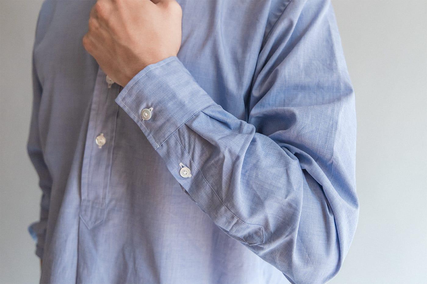"""オフィサーシャツ「プリマス」 """"袖まくり""""がサマになる密かな仕掛けも"""