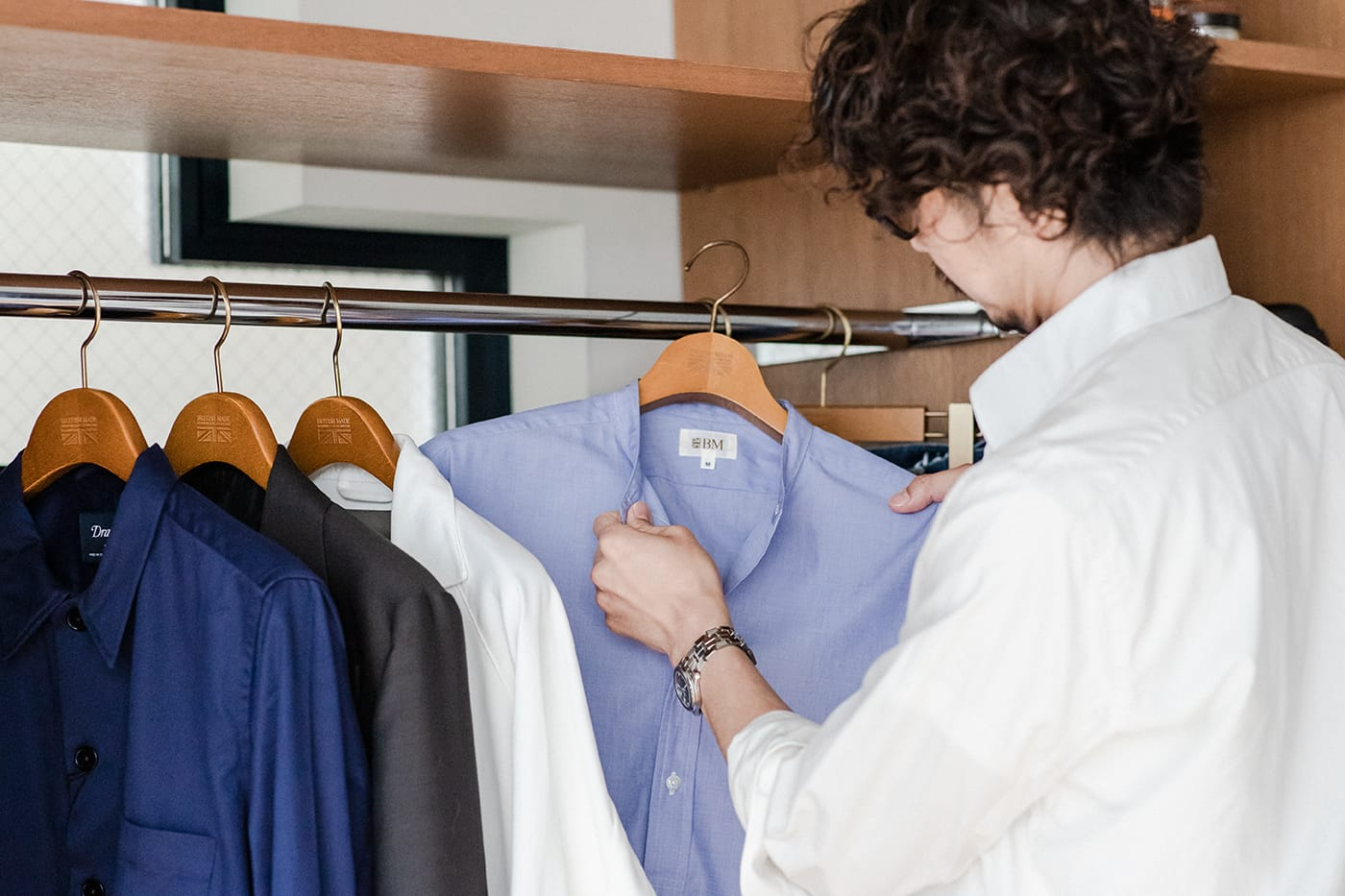 オフィサーシャツ「プリマス」 サンプルを何度もチェックして、納得がいくまで作り込み