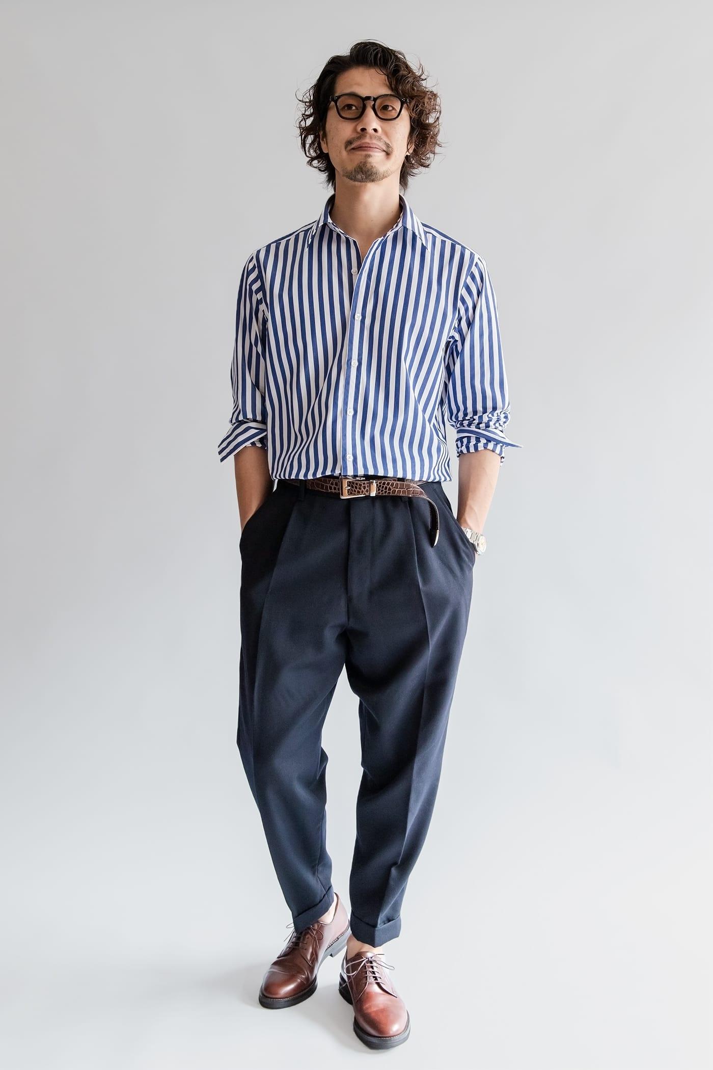 ドレスシャツ「ロンドン」 ゆったりしたシルエットはシャツイチにも好適